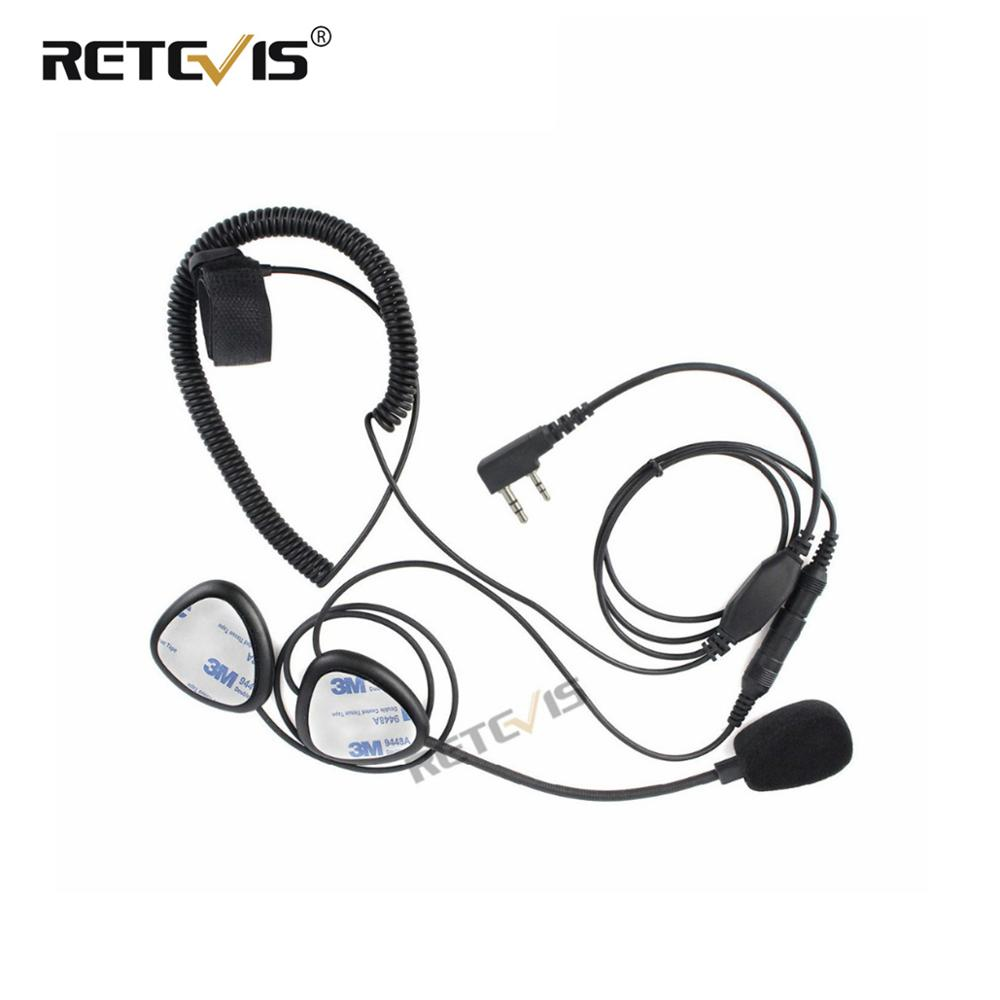 Motorcycle Helmet Headset For Walkie Talkie 2Pin Finger PTT Mic For Baofeng UV-5R For Kenwood For Puxing For Retevis RT5R/H777