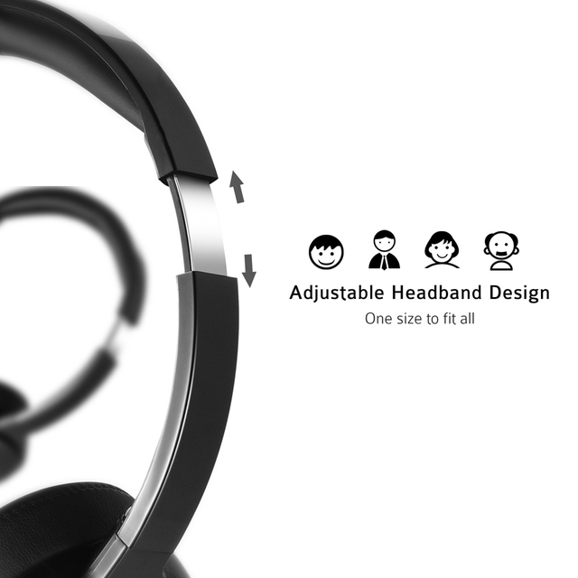 PA071 Wired Headsets Crystal Clear Sound With Mic&In-line Control Wired Headphone for Mac PC Computer Office Skype Calls 5