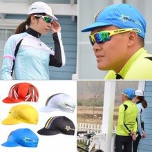 1pc New Rockbros Pro Caps Team Bicycle Cycling Tour Bike Cap Folding Sun Cap Sunhat Outdoor Sports Head Kits Cycling Accessories