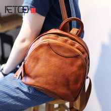 цена на AETOO women leather backpack fashion summer bag brand korean women backpack