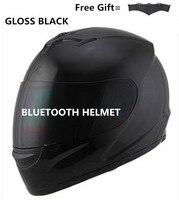 Unisex Adult's Full Face Style gloss Black lens Motorcycle Helmet (Matte Black, Large) bluetooth helmet