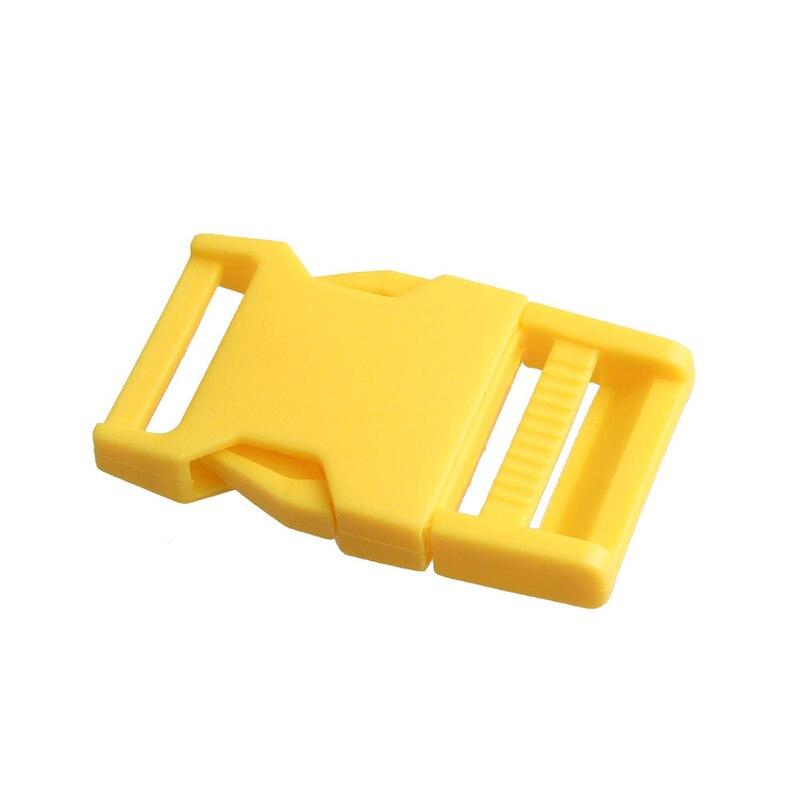 Лямки швейные инструменты собачьи ремни пряжки двойные регулируемые Крючки для рюкзака Высокое качество 1 шт. 25 мм популярная пластиковая пряжка безопасности - Цвет: Yellow