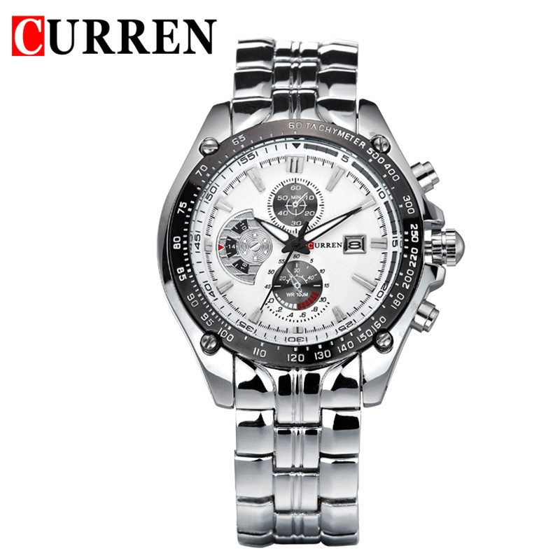CURREN Mens Watches Top Brand Luxury Stainless Steel Analog Display Date Sport Quartz Watch Military Army Relogio Masculino Gift mance mens watches top brand luxury quality military sports men s dual display multi function stainless steel mens watches