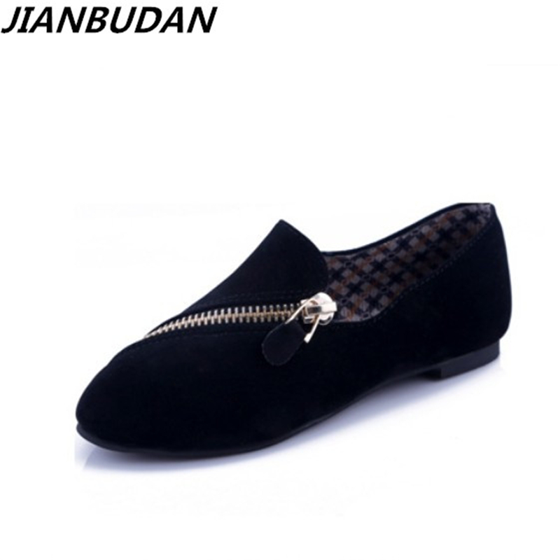 JIANBUDAN flat shoes women 2017 new spring shoes casual and comfortable flat shoes size 35 40