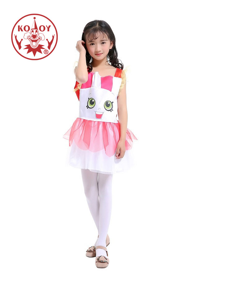 Lovely Girls Summer Dress Cartoon Rabbit Princess Costume School Party Stage Acting Show Dress-Up For Kids image