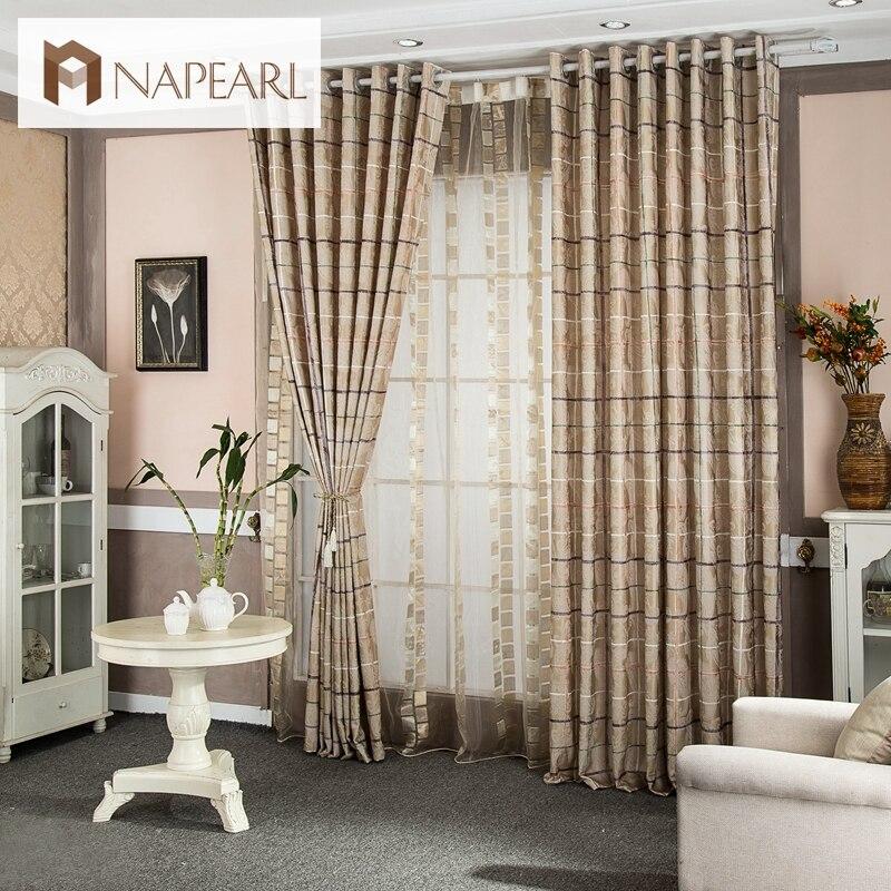 tela escocesa impreso diseo rstico cortinas textiles para el hogar cocina cortinas cortina de ventana ciega