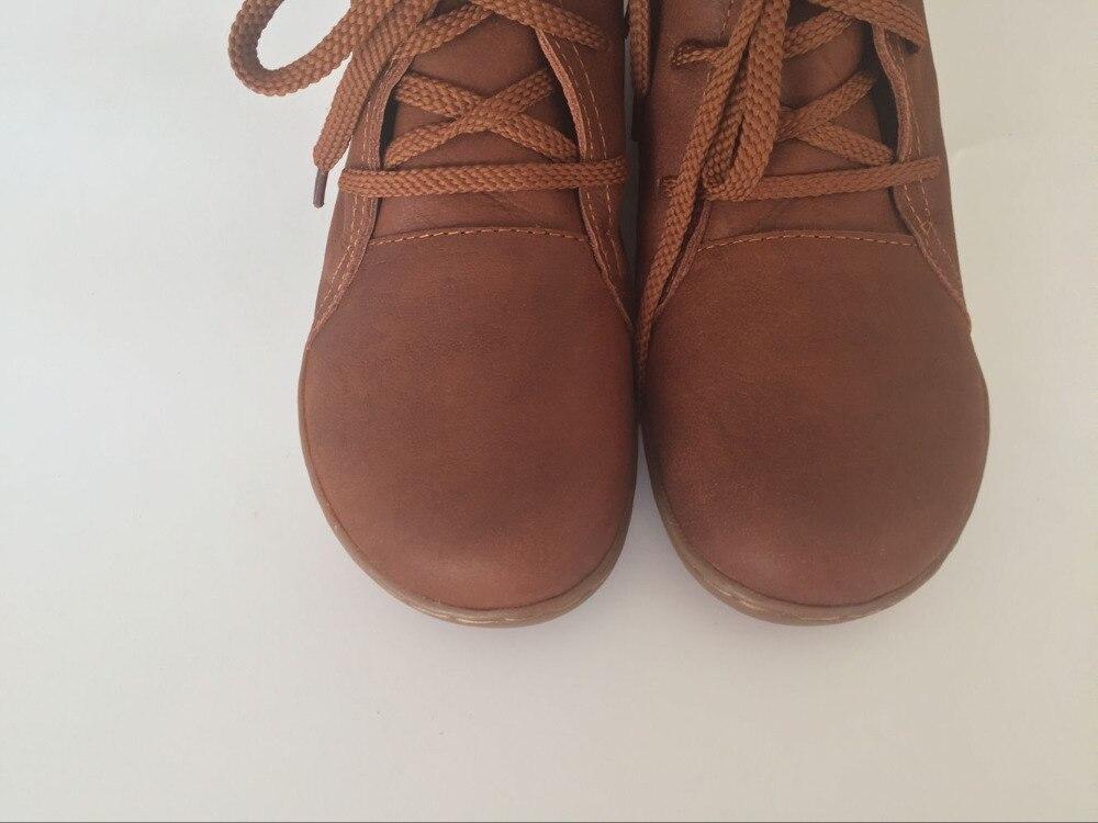 Niña de Las retro Bota Cuero Hecho Retro Moda Arte Puro Brown El Careaymade Zapatos Colores Mano Genuino Mori De Tobillo Mujeres Black Botas A 3 wIT7qdg
