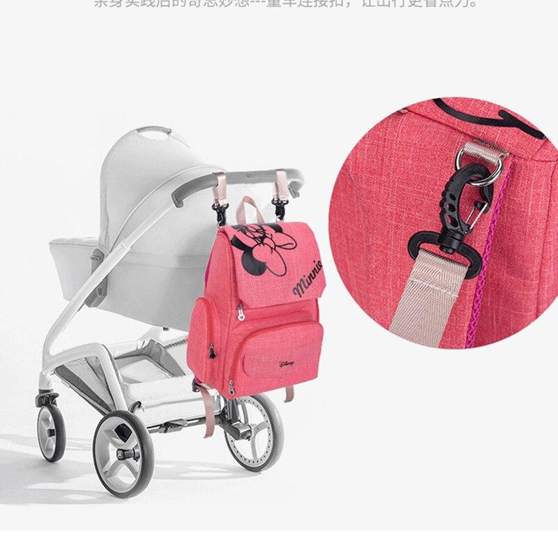 Disney Mickey Minnie bebé bolsas de pañales Bolso de la madre cochecito bolsa pañal mochila de bolsa Bolso de la mamá - 3