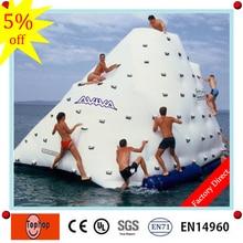 Надувной бассейн Озеро море океан воды играть игры, надувной айсберг с скалолазанием стены для продажи