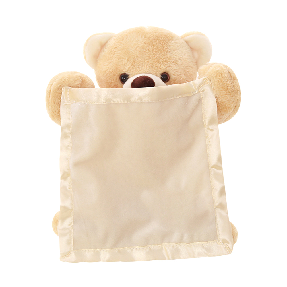 Enjoybay Russian/English Peek a Boo Talking Teddy Bear Play Hide Seek Stuffed Toys Cute Cartoon Animal Toy Electric Music Toy