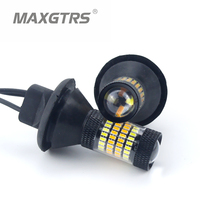 2X T20 7440 W21W LED Dual Color White Amber Yellow Switchback Turn Signal Light Canbus Error