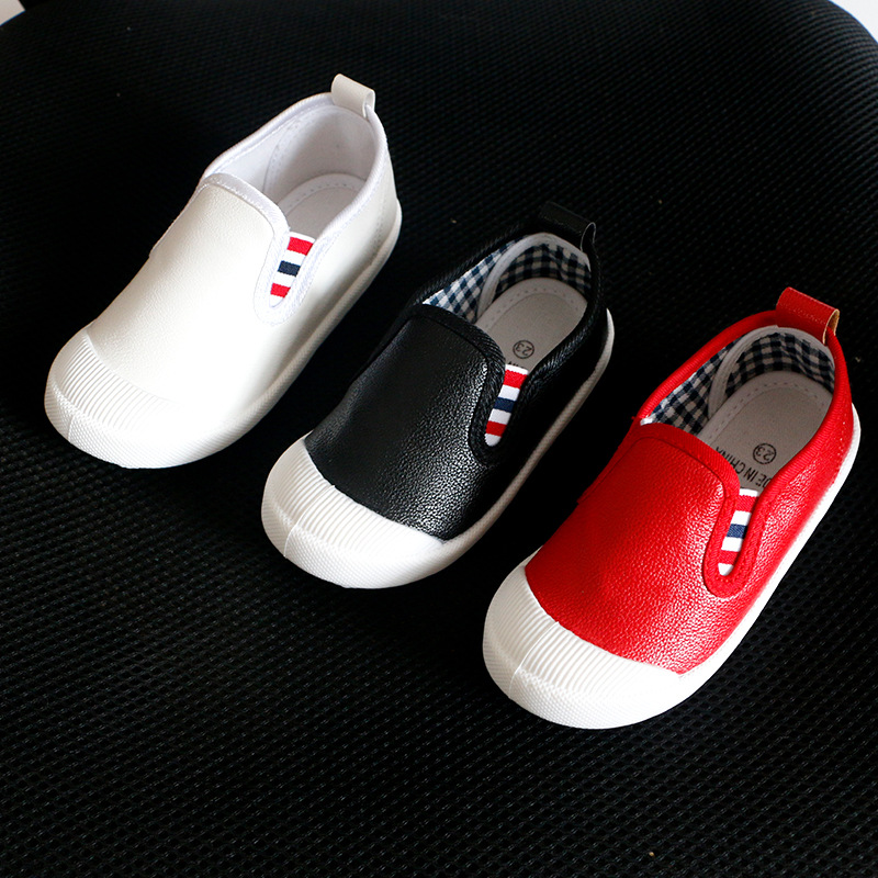 2016 New Fashion Children Casual Shoes Girls Leather Waterproof shoes 3 colors PU Solid baby girls shoes Slip-On Kids boys shoes