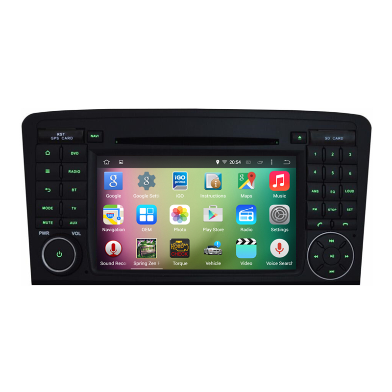 7 android 5 1 quad core car stereo audio autoradio head for Mercedes benz car stereo