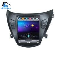 32G rom вертикальный экран android автомобильный gps мультимедийный видео радио плеер в тире для hyundai elantra 2012 2016 лет автомобиль navigaton
