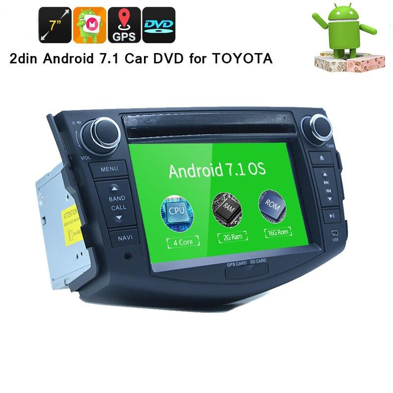 7 pouce android Voiture Lecteur Multimédia Pour Toyota RAV4 2006-2012 Capacitif Tactile Quad Core HD 1024*600 DVD de voiture Lecteur CD BT CARTES