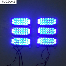 Red Blue White Green Amber Yellow 6x22 132LED Strobe Flash Warning light Police Car Light Flashing Lights