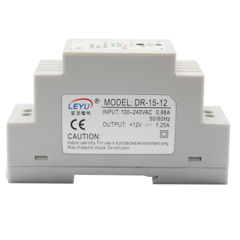 Din Rail series DR-15-24V AC 24VDC single output high quality led switching power supply approved CE ROHS цена
