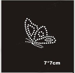 30pcs Lot Cute little butterfly hotfix rhinestones c253877661f5