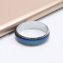 CHENFAN Korean womens rings for women bijouterie color changing ring men punk stainless steel couple jewelry