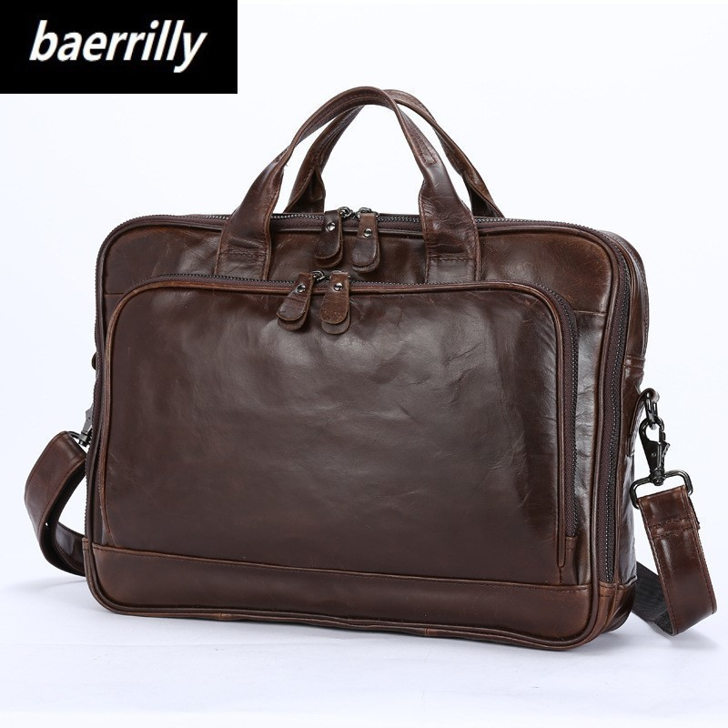 New Classic Design 100% cow leather Large Size Leather Briefcases Men Casual Business Man Bag Office Briefcase Bags Laptop Bag 247 classic leather