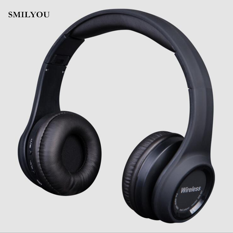 SMILYOU Fashion Wireless Bluetooth 4.1 Stereo Headphones Built-in Mic Handsfree for Calls Music Headset Real Box Earphones v8 wireless stereo bluetooth headphones car driver handsfree call bluetooth earphones bluetooth headset portable storage box