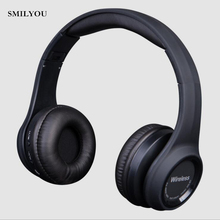 SMILYOU Fashion Wireless Bluetooth 4.1 Stereo Headphones Built-in Mic Handsfree for Calls Music Headset Real Box Earphones