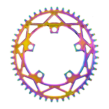 PASS QUEST 110 / 5 BCD 110BCD Titanium-plated Oval Road Bike Narrow Wide Chainring  42T-52T Bike Chainwheel sram 3550 APEX RED цены