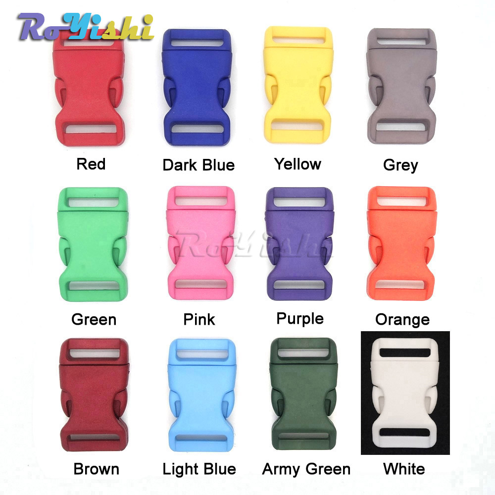 100pcs/pack 3/4(20mm) Plastic Colorful Contoured Side Release Buckles For Paracord Bracelets/Backback100pcs/pack 3/4(20mm) Plastic Colorful Contoured Side Release Buckles For Paracord Bracelets/Backback