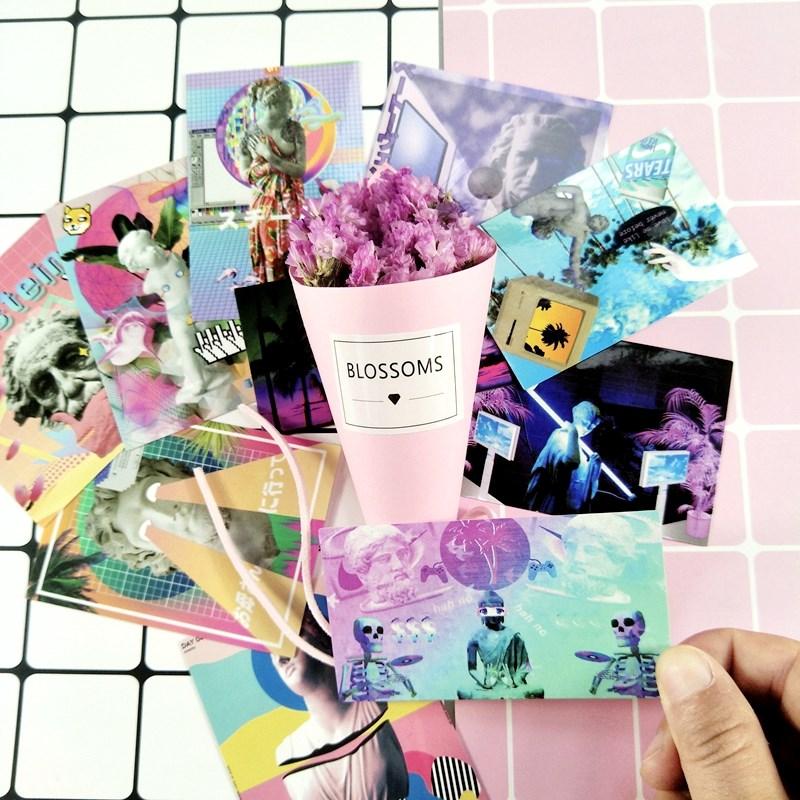 10pcs/lot Vapour Wave Dream Stickers Set Decorative Stationery Stickers Scrapbooking DIY Diary Album Stick Lable