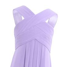Pleated Criss Cross Chiffon Bridesmaid Dresses