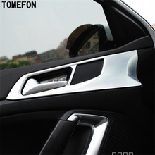 TOMEFON 4 шт. для PEUGEOT 308 автомобильный седан интерьер Стайлинг ABS Хромированная дверная ручка чашка чаша крышка стикер отделка модлинг