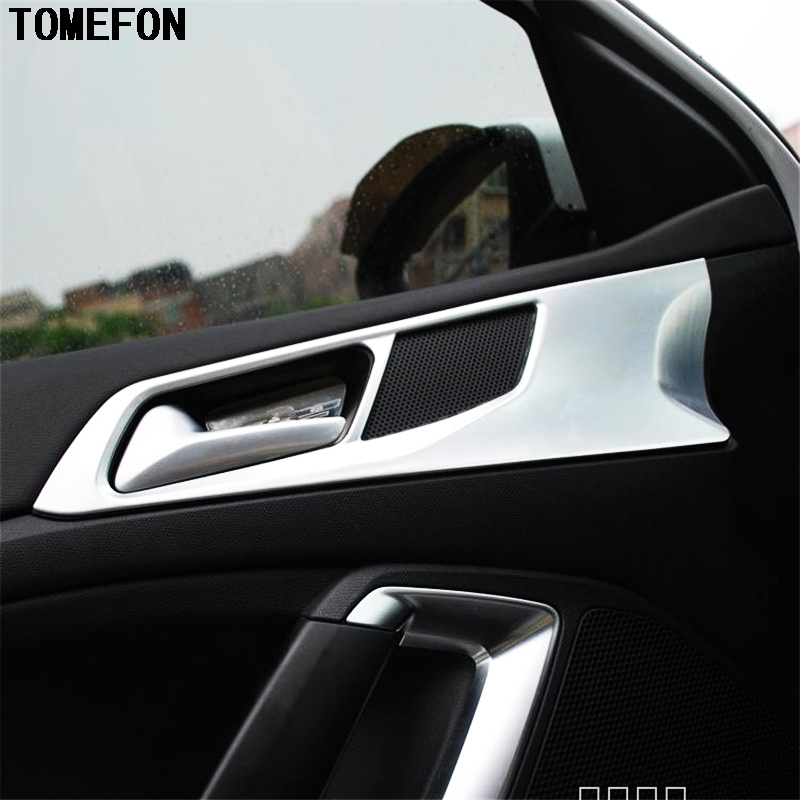 TOMEFON 4pcs For PEUGEOT 308 2014 2015 2016 Car Sedan Interior Styling ABS Chrome Door Handle Cup Bowl Cap Sticker Trim Modling цена