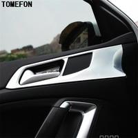 TOMEFON 4pcs For PEUGEOT 308 2014 2015 2016 Car Sedan Interior Styling ABS Chrome Door Handle Cup Bowl Cap Sticker Trim Modling