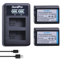 2pc NP FW50 NP FW50 Li Ion Battery LED Charger For Sony A6000 NEX 7 NEX
