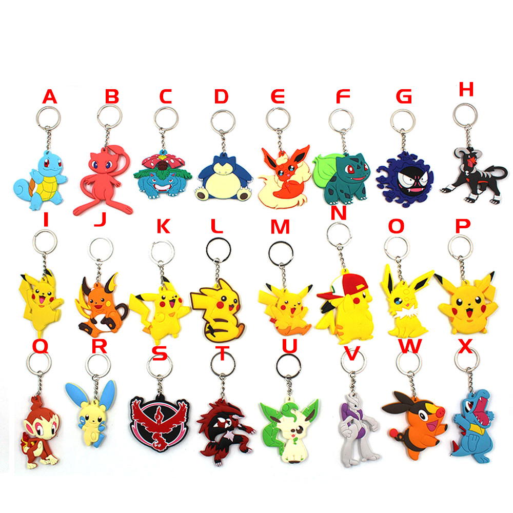 game-pocket-monster-font-b-pokemon-b-font-pikachu-snorlax-squirtle-bulbasaur-flareon-moltres-pvc-pendant-keychain-keyring-ornament-otaku-gift