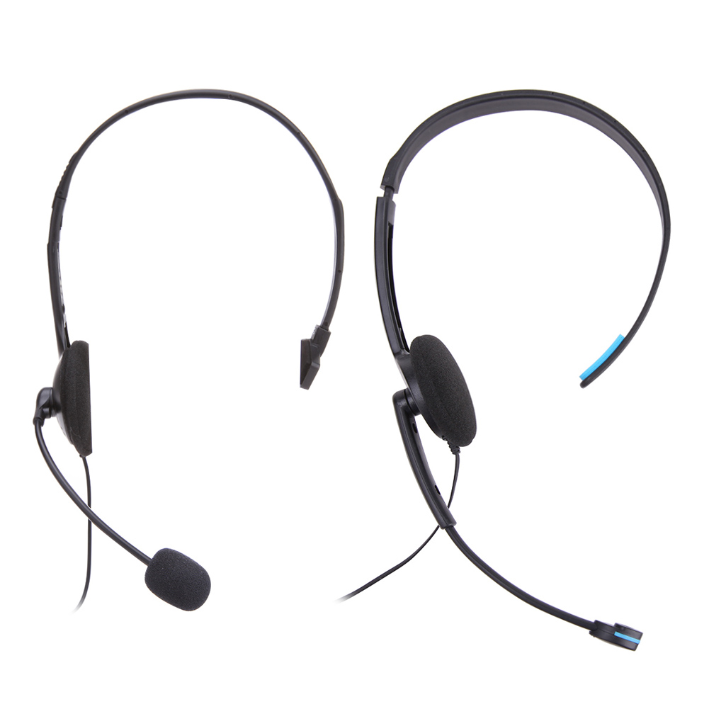 New Wired Gamer Headset 3.5mm Jack Single Side Ear Video Games Headphone with Microphone for Sony PlayStation 4 PS4 Game