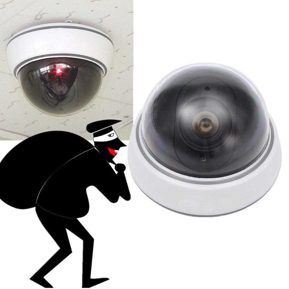 Dummy Camera CCTV Camera Home Safe Surveillance Camera Flashing LED Light White Fake Dome Camera CCTV Security