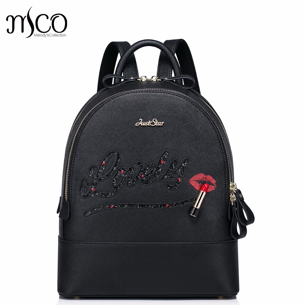 Brand Design Lovely Lipstick Lips Fashion PU Women Leather Ladies Backpack Shoulders School Travel Bags Student Daypack 2017 new brand ballet girl embroidery drawstring pu women leather ladies backpack shoulders school travel bags student daypack
