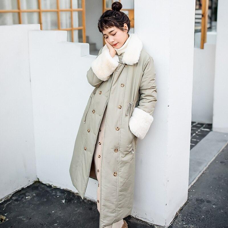 Plus Petit Nouveau Longue Coton D'hiver Dames Femmes Jassen Parka Section Chaquetas Manteau Invierno Mujer Velours Frais De gC0Fqnw