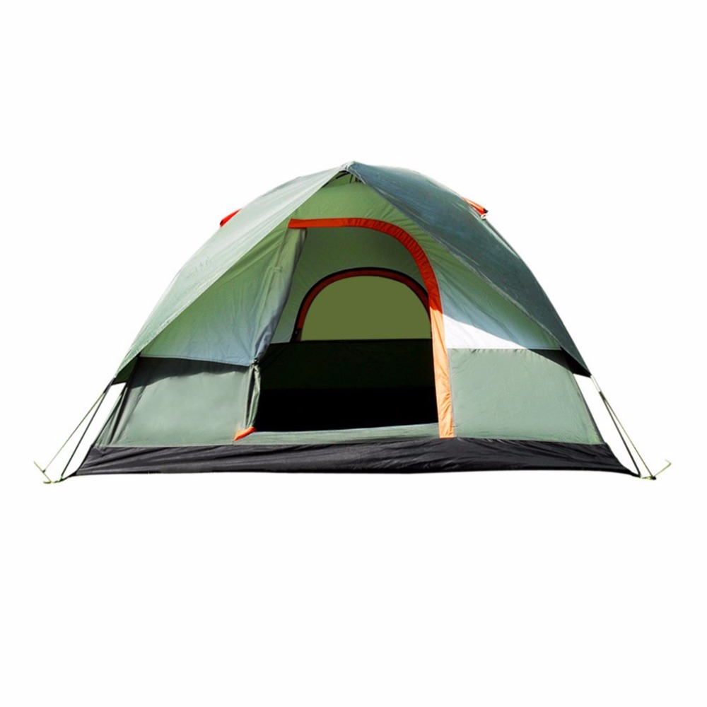 Waterproof Outdoor Camping Hiking Polyester Oxford Cloth Dual Layers Tent Portable 4 People Travel Climbing Tent