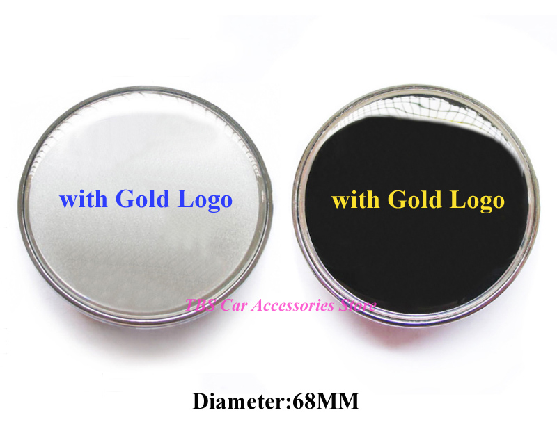 Enthusiastic 4pcs 68mm Silver Or Black 3d Gold Crest Badge Wheel Center Hub Cap Cover Emblem Logo Wheel Rims Car Styling Car Brand : P
