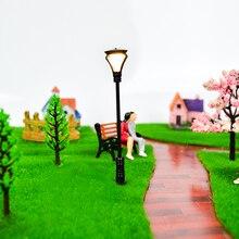 30pcs/lot Scale model 4.5cm-9cm  Lamp Post Street LEDs Lights Model Railway Train Layout