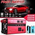 3000 Вт портативный автомобильный солнечный инвертор синусоидальный преобразователь 12 в 110 В преобразователь напряжения 12 В до 110 В Автомобил...