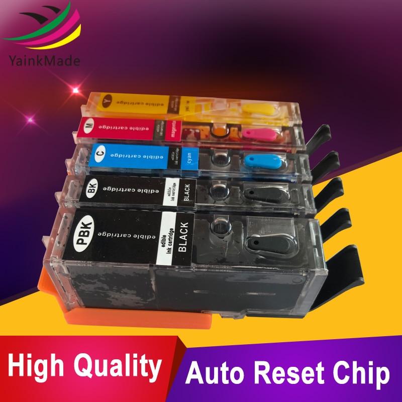 5PK PGI-550XL CLI-551XL navulbare inktcartridge PGI550 CLI551 voor - Office-elektronica