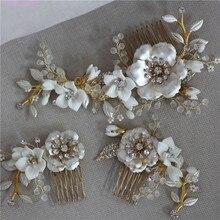 Jonnafe Horquillas para el pelo de Color dorado para boda, accesorios para el pelo para graduación