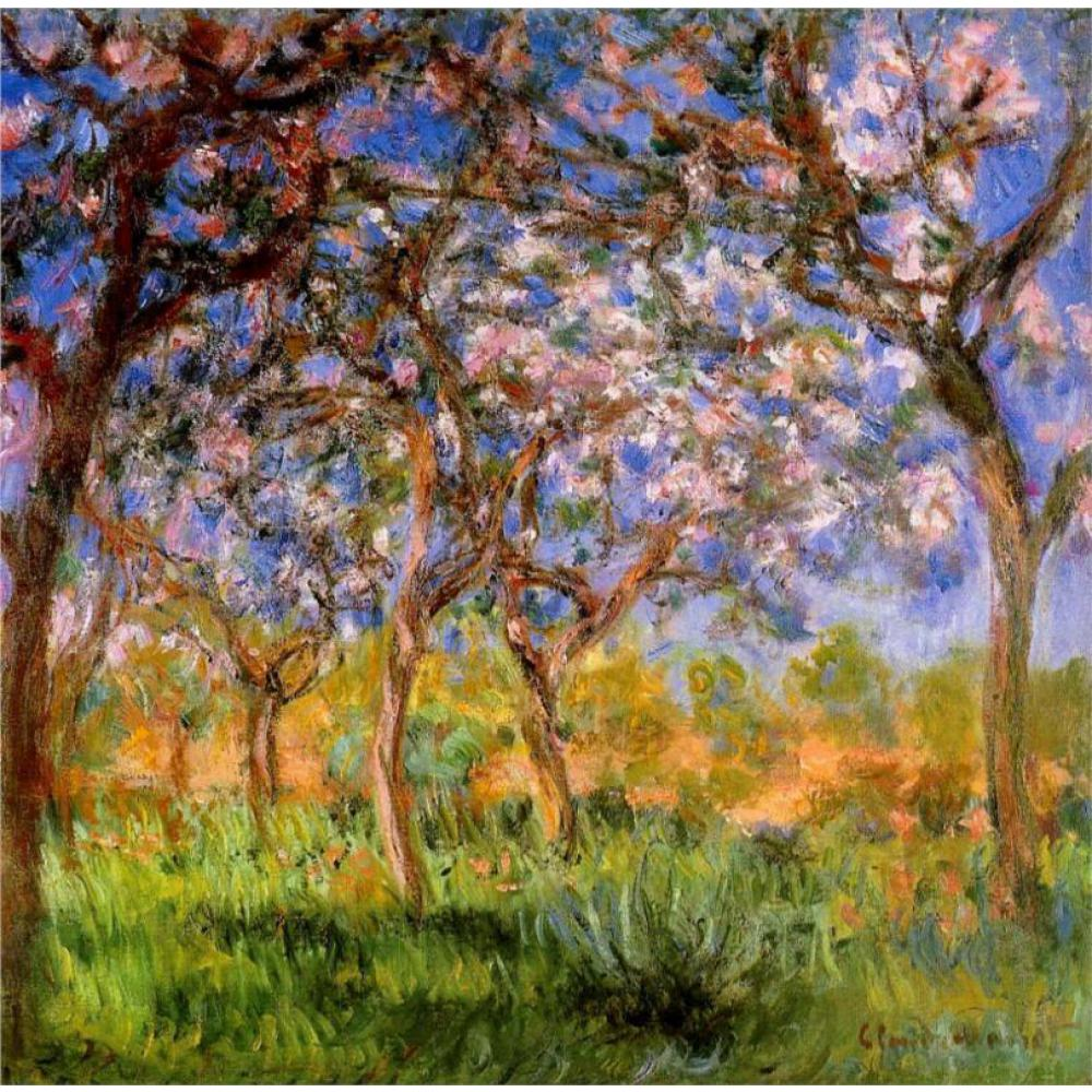 Claude Monet Cuadros Us 84 25 Off High Quality Claude Monet Paintings For Sale Giverny In Springtime Canvas Art Hand Painted In Painting Calligraphy From Home