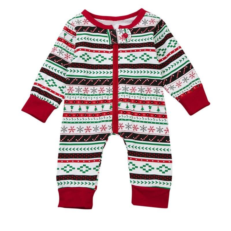 Baby Boy Girl Suits Christmas Cotton Long Sleeves Stripes Jumpsuits Colorful Tops+Pants 2pcs Suits Newborn Clothes Hot Sale