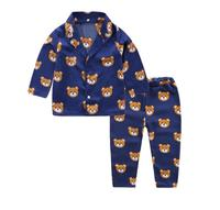 Long sleeved children's pajamas set cute little bear boys and girls clothing set new summer baby pajamas set children's pajamas