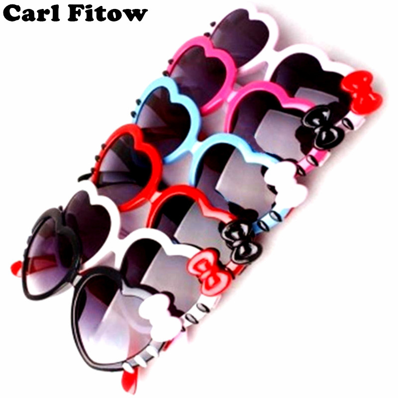 46854ba10f 2017 Fashion Summer Cartoon Cute Heart Bow Cat Sunglasses Glasses Eyeglasses  Eyeware For Kids Girls Boys Child