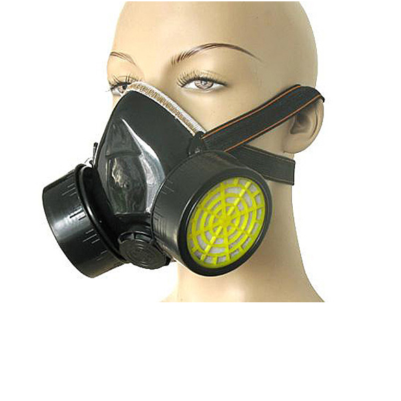 Industrial Anti Dust Paint Respirator Mask Chemical Gas Filter Paint Safety Equipment  LCC new safurance protection filter dual gas mask chemical gas anti dust paint respirator face mask with goggles workplace safety